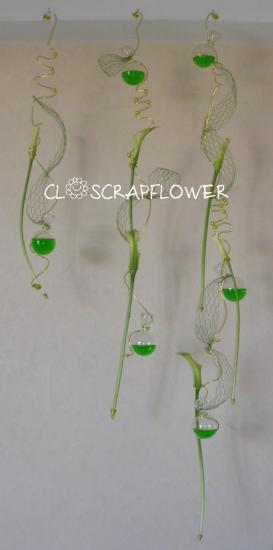 Découvrez les photos de la composition florale Suspension florale de closcrapflower sur www.composition-florale.com