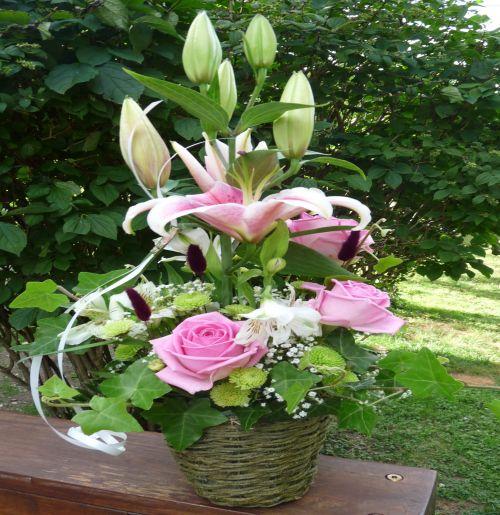 art floral photos des compositions florales bapt me conseils en d coration florale. Black Bedroom Furniture Sets. Home Design Ideas