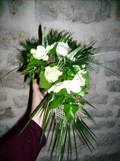 Art floral photos composition florale photos d coration florale mariage s - Spiree couronne de mariee ...