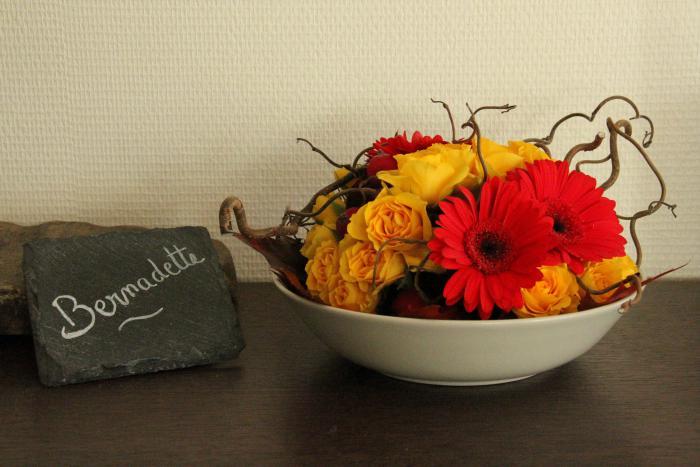 art floral photos des compositions florales rouleau d 39 automne conseils en d coration florale. Black Bedroom Furniture Sets. Home Design Ideas
